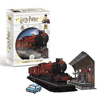 Harry Potter Hogwarts Express 3D Model Jigsaw Puzzle (181 Pieces)