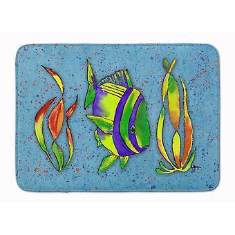 Caroline's Treasures Tropical Fish on Blue Floor Mat, 19 X 27, Multicolor - 8570Rug