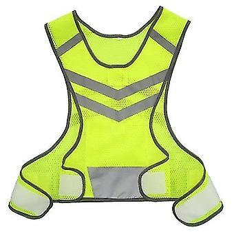 Polkupyörän pyöräpaidat ulkourheilu juoksu heijastava liivi säädettävä kevyt verkko turvavarusteet naisille miehet lenkkeilevät pyöräily kävely