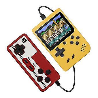 Kids Retro Mini Game Console With Gamepad(Yellow)