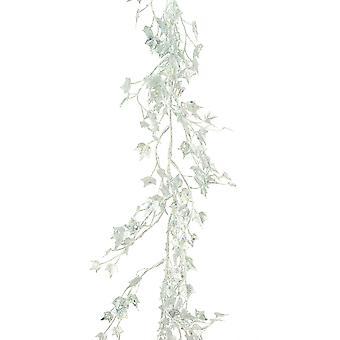 1.8m Zilveren Sparkle Mini Ivy Garland voor Kerstmis Home Decoratie