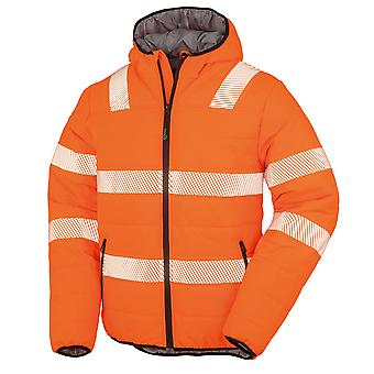 Result Genuine Recycled Mens Ripstop Safety Padded Jacket