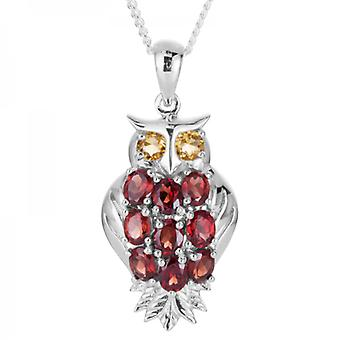 Shipton and Co Ladies Shipton And Co Exclusive Silver And Garnet Pendant Including A 16 Silver Chain PQA519GRCI