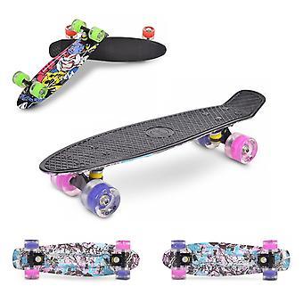 "Byox Kids Skateboard Graffiti 22"" Aluminiumaxel 85A PU Hjul ABEC 7 Lager"