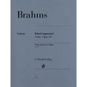 Klavierquartett A-Dur Opus 26 (Johannes Brahms) Quarteto de Piano, Set (Partitura & Partes