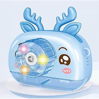 Los niños usan cámara de máquina de burbujas, envían agua de burbujas, regalos portátiles de juguetes de máquina de burbujas (niños, niñas, cumpleaños, bodas, juegos al aire libre y cubiertos de color rosa)