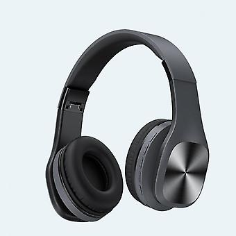 Bluetooth 5.0 Headphone 2.1 Stereo Sound Wireless Noise Cancelling Foldable Gaming Earphone Black Color