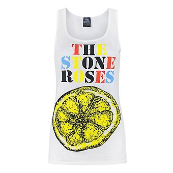 O rosas de pedra das mulheres/senhoras limão sem mangas Tank Top