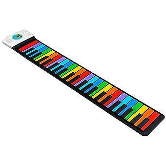 لوحة المفاتيح مرنة نشمر البيانو مع مكبر الصوت