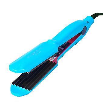 Curling per capelli elettrici professionali ferro da curling 140 220 PTC Heater Hair Crimper Curler| Ferri da curling (blu)