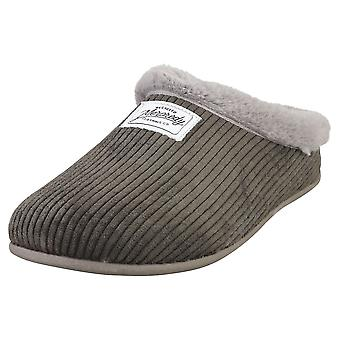 Mercredy Slipper Charcoal Womens Slippers Shoes in Charcoal