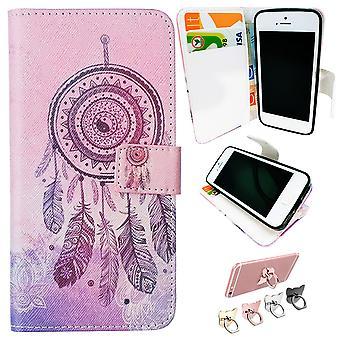 Iphone 5/5s/se2016 Sag/Tegnebog Læder - Dream Catcher