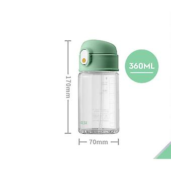 1st flaskor 360ml vatten transparent plast BPA gratis kreativ frostad vattenflaska