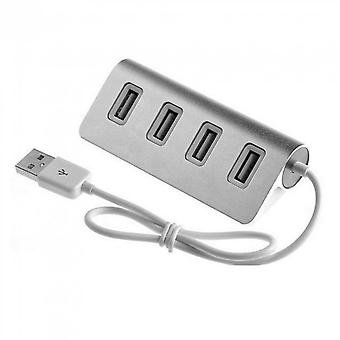 Led Mini 4 Port Hub High Speed Usb 2.0 Splitter Adapter Hub With Cable For Macbook Pc Laptop