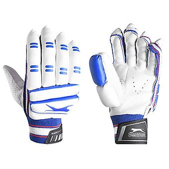 Slazenger Kids Premier Batting Gloves Cricket Sports Elasticated Wrist Cuffs