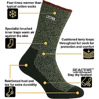 Mens Official JCB Thermasock Work Socks Olive 9-12 size 9-12 Olive