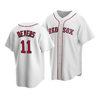 Mens Baseball Jersey #2 Bogaerts #11 Devers #34 Ortiz Red Sox Player Jerseys 90s Hip Hop Game Fans Sports Baseball Uniforms Size S-xxxl