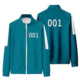 Iwa52 Squid Game Matching Tracksuit With Stand-up Collar And Zip-up Sweatshirt