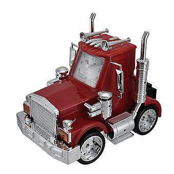 North American Big Rig rosso Semi Truck Alarm Clock w/luci & suono