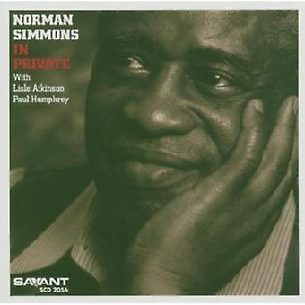 Norman Simmons - In Private [CD] USA import