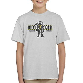 Titan Pilot Training Academy Titanfall Kid's T-Shirt