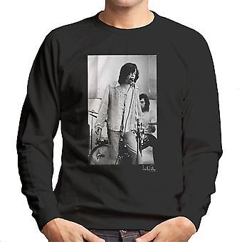 Rolling Stones Mick Jagger Performing Men's Sweatshirt