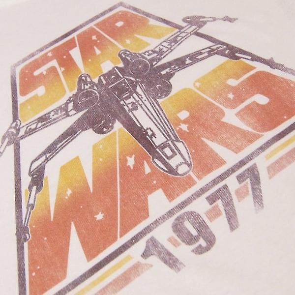 Star Wars, Star Wars Mens Retro X-Wing 1977 T-Shirt blanc