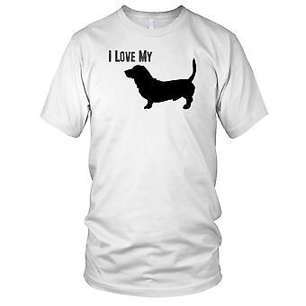 I Love My Basset Pet Dog Kids T Shirt