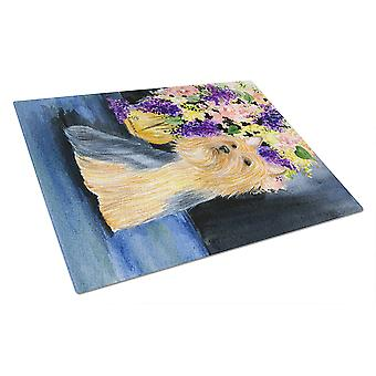 Carolines Treasures  SS8293LCB Silky Terrier Glass Cutting Board Large