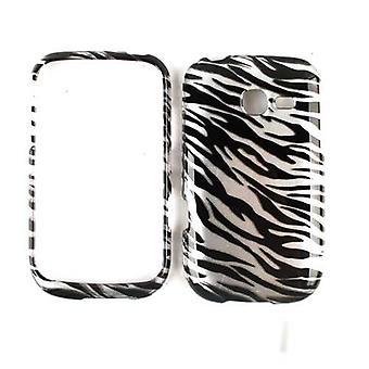 Cas de Snap-On cellulaire illimité pour Samsung Freeform 5 R480C (Trans. Zebra Print)