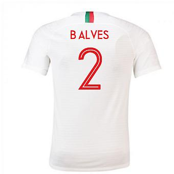2018-2019 Portugal Away Nike Football Shirt (B Alves 2)