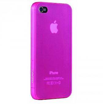 Ozaki iCoat Hard Cover Case for iPhone 0.4mm 4 / iPhone 4S - pink