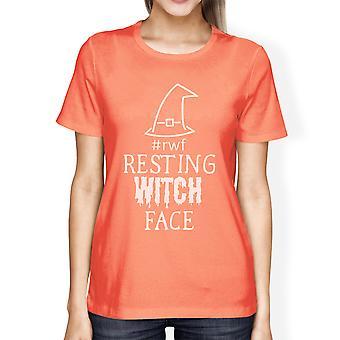 يستريح الوجه الساحرة هالوين حلي قميص للمرأة الخوخ القطن