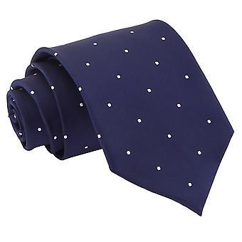 Granatowy Pin Dot klasyczny krawat