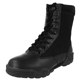 Mens Truka Leather And Nylon Lace Up Combat Boot - Combat RG-1080