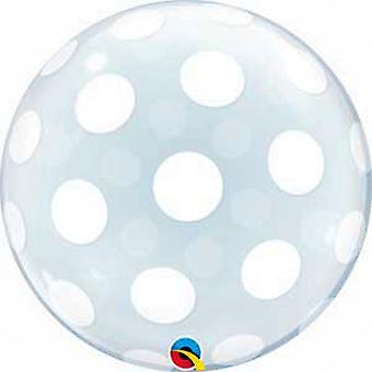 Qualatex 20in Deco Big Polka Dot Bubble Balloon