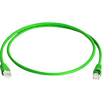 Telegärtner RJ45 Network cable, patch cable CAT 6A S/FTP 50.00 m Green Flame-retardant, Halogen-free