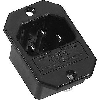 K & B 42R322111 IEC connector 42R Series (mains connectors) 42R Plug, vertical mount Total number of pins: 2 + PE 10 A Black 1 pc(s)