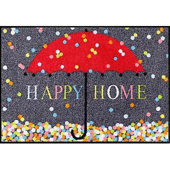 Lion de salon pied écran mat confetti 50 x 75 cm, tapis lavables