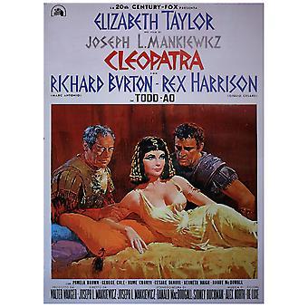 Cleopatra Poster  (ital. Filmplakat) Elizabeth Taylor, Richard Burton, Rex Harrison.