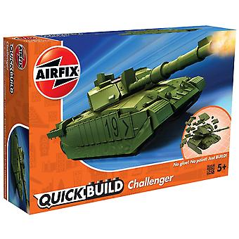 Airfix J6022 Quick Build Challenger Tank Railway Jucărie, Green Model Kit