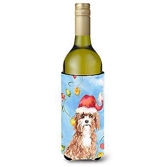 أضواء عيد الميلاد نعالها عازل المشروبات زجاجة النبيذ كافابو