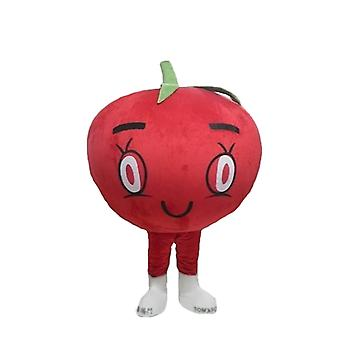 mascot red tomato giant, all round and cute SPOTSOUND