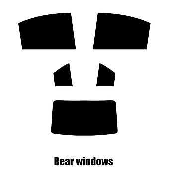 Pre gesneden venster tint - Hyundai Accent 4-deurs sedan - 2006 tot 2011 - achter windows