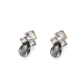 Oliver Weber Post Earring Right Gold /Black Diamond