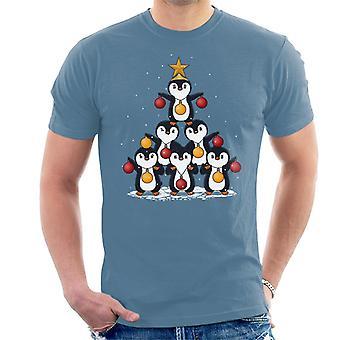 Oh Penguin Tree Christmas Men's T-Shirt