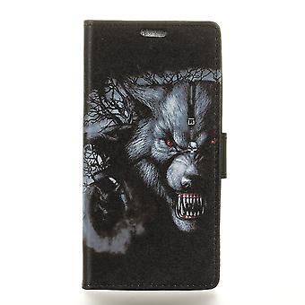 Huawei Y6 2018 portafoglio sacchetto-feroce lupo