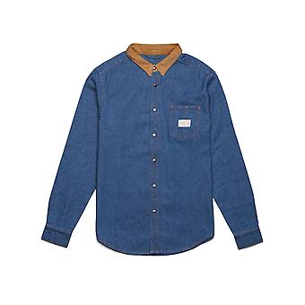 Rhythm Workwear Long Sleeve Shirt in Denim