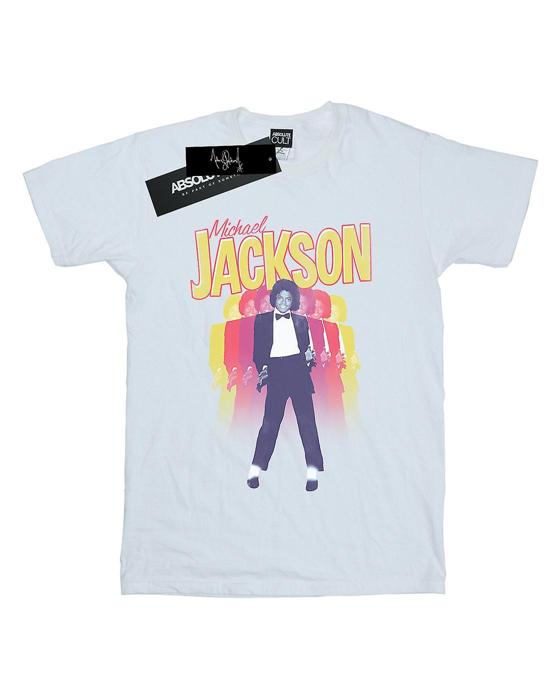 Michael Jackson Women's Repeat Fade Boyfriend Fit T-Shirt