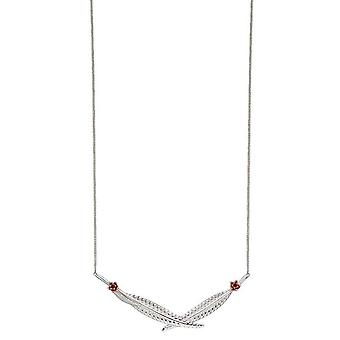 Elements Silver Leaf Collar Necklace - Silver